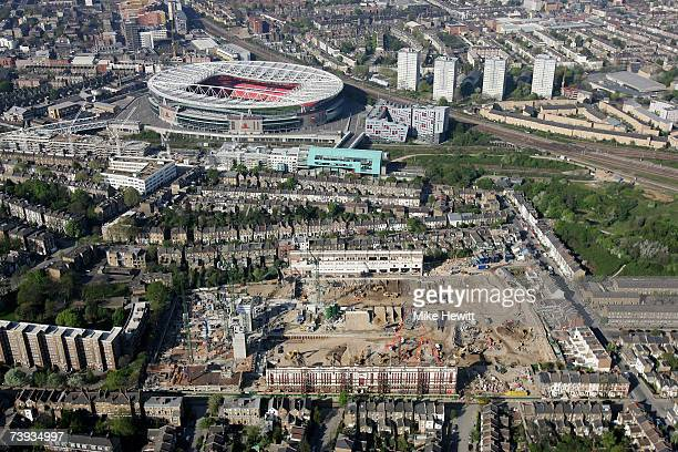 An aerial view of the Emirates Stadium home of Arsenal football club on April 20 2007 in Ashburton Grove Holloway north London England Also seen in...