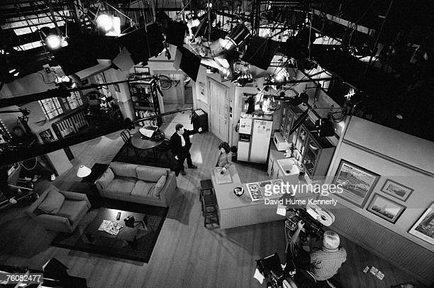 An aerial view of the empty set after the filming of the last episode of Seinfeld April 3 in Los Angeles California