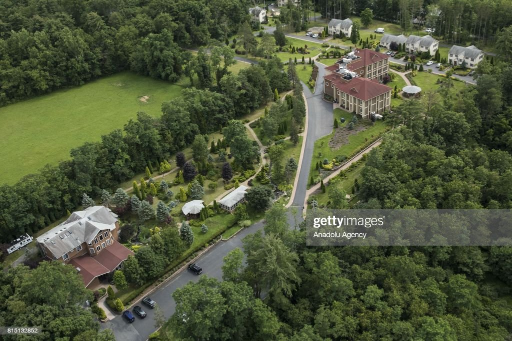 An aerial view of the Fetullah Terrorist Organization (FETO) compound where Fetulah Gulen resides in Saylorsburg, PA., United States on July 15, 2017. 249 people were martyred and nearly 2,200 people injured in the defeated 15th of July 2016 coup attempt, which the Turkish government said was carried out by the Fetullah Terrorist Organization (FETO) led by U.S.-based Turkish citizen Fetullah Gulen. Turkish officials accuse Fetullah Gulen plotting to overthrow the government of President Erdogan as the culmination of a long running campaign to infiltrate Turkish institutions including the military, the police and the judiciary.