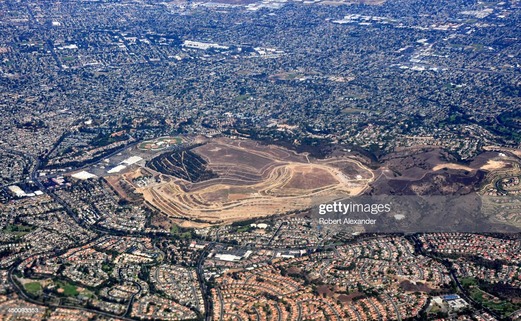 An aerial view of the former BKK Corporation Landfill in West Covina