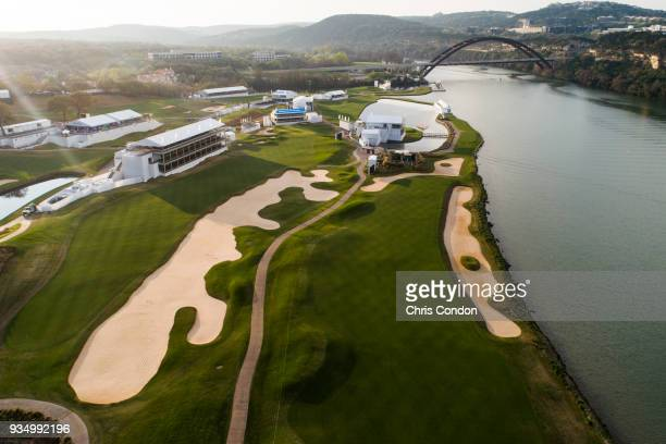 An aerial view of the golf course prior to the World Golf Championships-Dell Technologies Match Play at Austin Country Club on March 18, 2018 in...