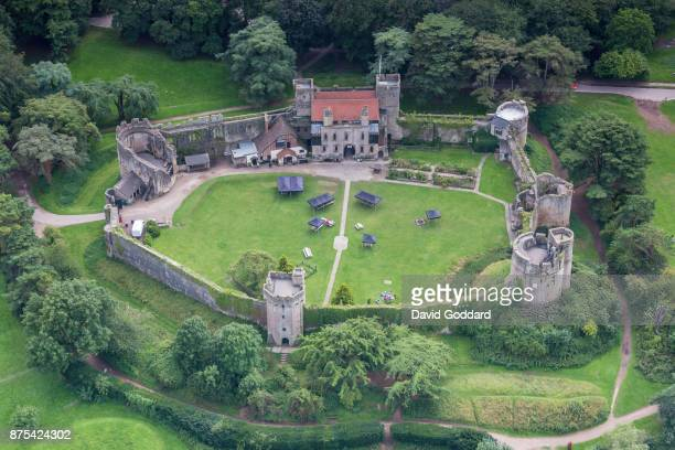 An aerial view of the Grade I listed Caldicot Castle on August 10 2017 in Monmouth Wales