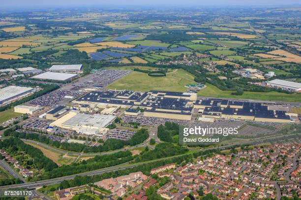 An aerial view of the Honda Motor Company Plant at Swindon also known as the Honda of the UK Manufacturing site on June 21 ​2017 in Swindon England