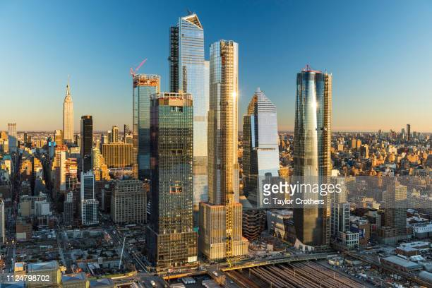 An aerial view of the Hudson Yards constructions project on the West Side of Manhattan on December 4 2018 in New York City
