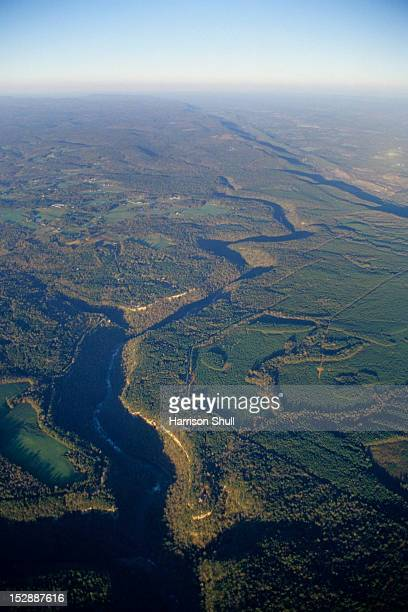An aerial view of the Little River Canyon National Preserve near Fort Payne, AL