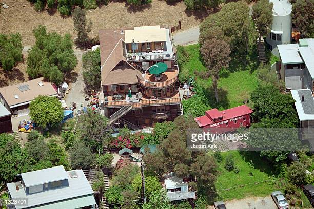 An aerial view of the Malibu Seaside Preschool atop a hill June 20 2001 in Malibu CA 4yearold Daniel Karven Veres the young boy who drowned in the...