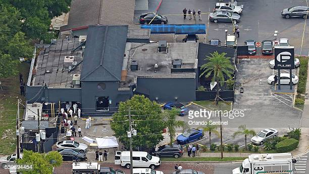 An aerial view of the mass shooting scene at Pulse nightclub in Orlando Fla on Sunday June 12 2016