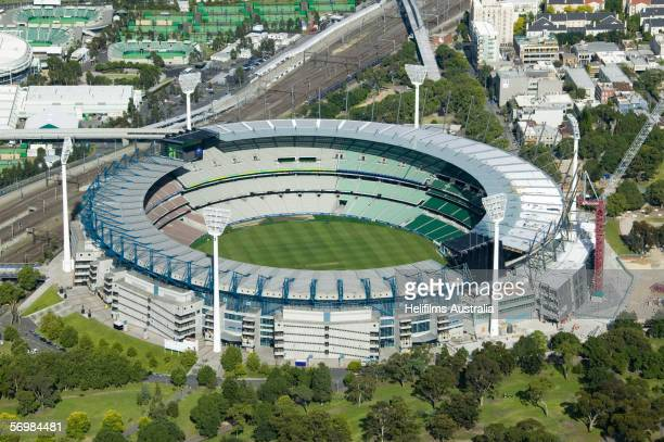 An aerial view of the Melbourne Cricket Ground is seen December 23 2005 in Melbourne Australia The Melbourne Cricket Ground will be the venue for the...