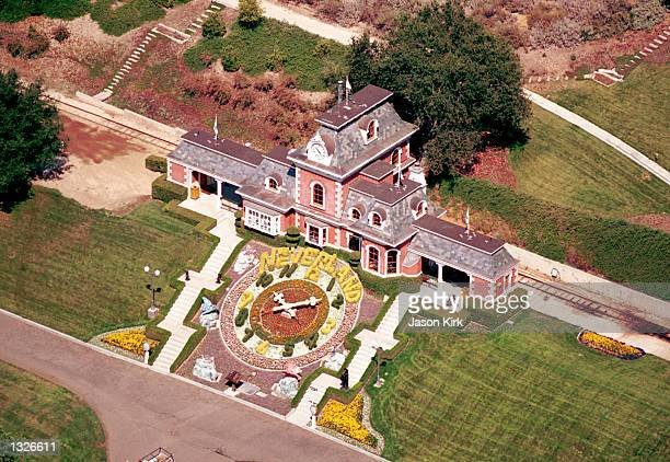 An aerial view of the Neverland Valley Ranch of singer Michael Jackson June 25 2001 in Santa Ynez CA