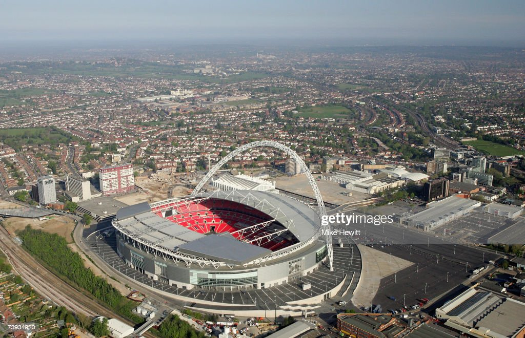 Aerial Views Of Sporting Venues In London : News Photo
