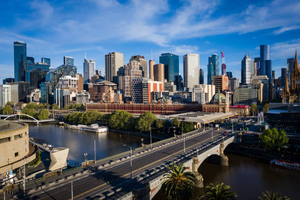 AUS: Aerial Views Of Melbourne As COVID-19 Lockdown Continues