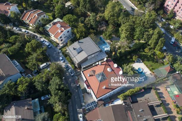 An aerial view of the official residence of Consul General of Saudi Arabia as waiting continues on the disappearance of Prominent Saudi journalist...