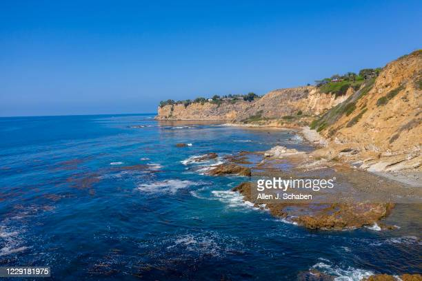 An aerial view of the Palos Verdes Shelf Superfund site, an area of contaminated sediment off the Palos Verdes Peninsula and Palos Verdes Point....
