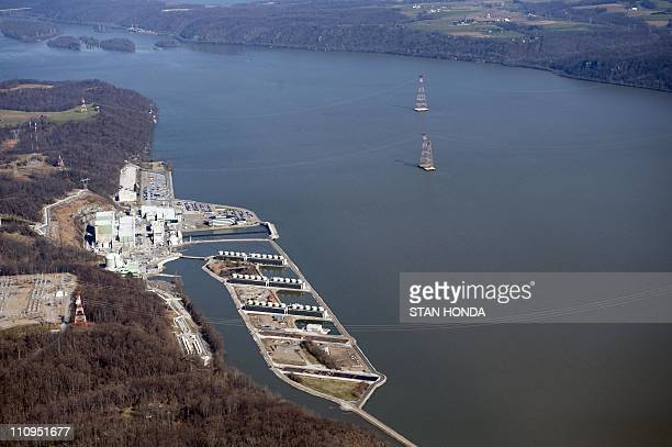 An aerial view of the Peach Bottom Atomic Power Station a nuclear power plant in Delta Pennsylvania March 25 2011 Peach Bottom consists of two...