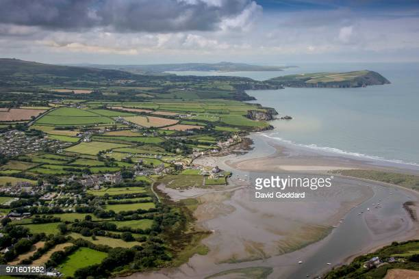PEMBROKESHIRE WALES AUGUST 2017 An aerial view of the Pembrokshire coastline from Parrog to Dinas Island on August 10th 2017 Located at the mouth of...