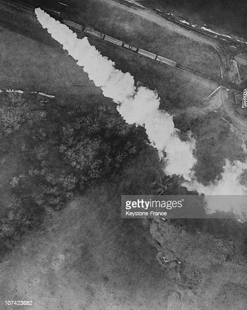 An Aerial View Of The Railway In Texas In Usa On May 1919
