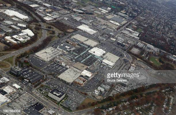 An aerial view of the Roosevelt Field Mall as photographed on November 10 2018 in Garden City New York