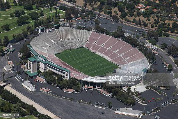 An aerial view of the Rose Bowl the home of the UCLA Bruins and NCAA bowl games on July 13 2010 in Anaheim California