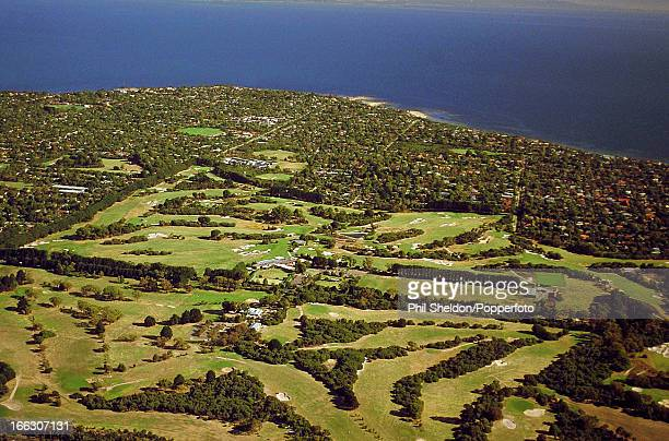 An aerial view of the Royal Melbourne golf course in Australia 4th July 2000
