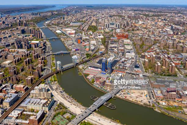 An aerial view of the South Bronx on April 28, 2020 in New York City.