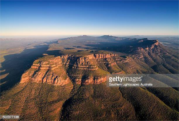 An aerial view of the southern Flinders Ranges near Wilpena, South Australia.
