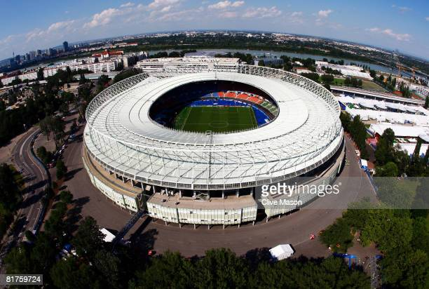 An aerial view of the stadium ahead of the UEFA EURO 2008 Final match between Germany and Spain at Ernst Happel Stadion on June 29, 2008 in Vienna,...