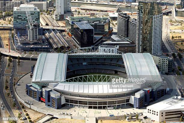 An aerial view of the Telstra Dome is seen on February 12 2009 in Melbourne Australia