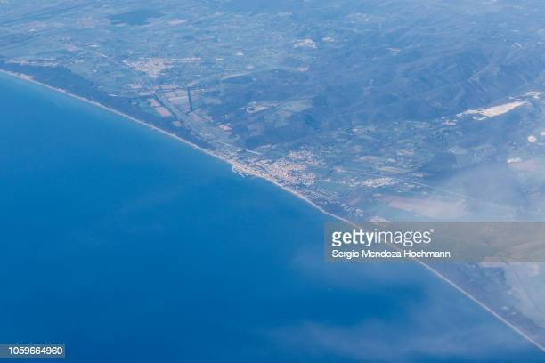 An aerial view of the town of San Vincenzo - Province of Livorno, Italy