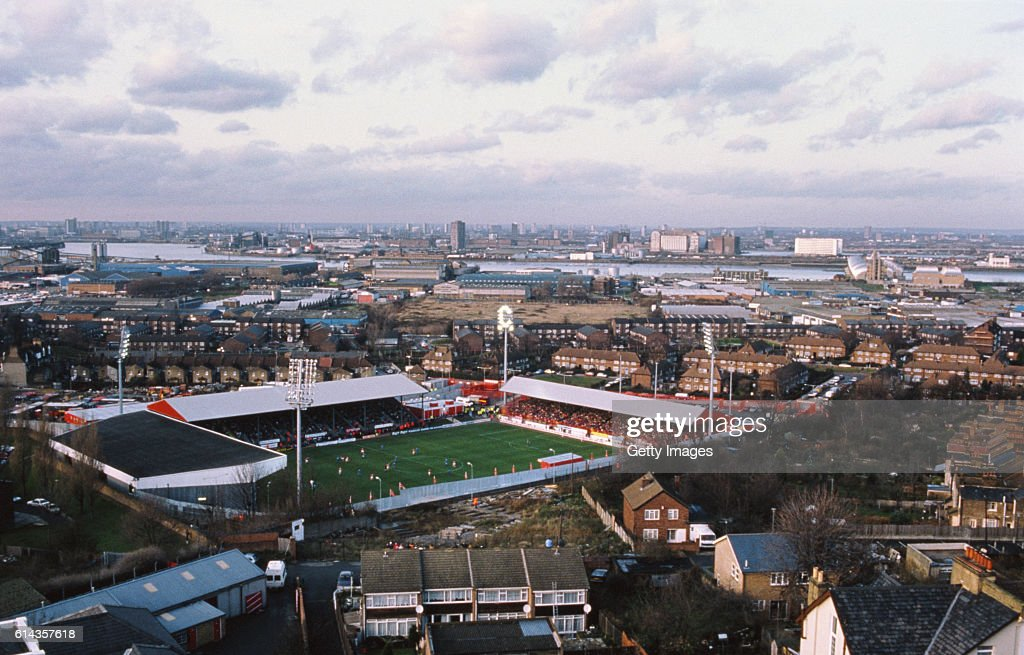 Aerial View of The Valley home of Charlton Athletic FC 1992 : News Photo