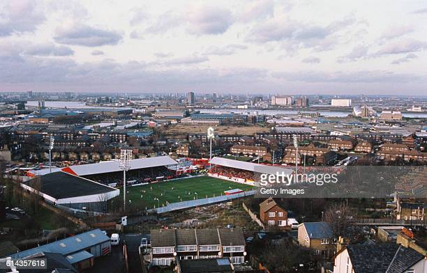An aerial view of the Valley home of Charlton Athletic FC during a League Divsion One match between Charlton Athletic and Portsmouth on December 5...