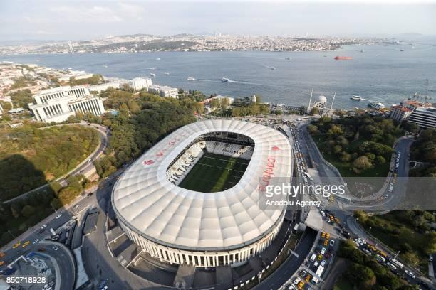 An aerial view of the Vodafone Park in Istanbul, Turkey on September 21, 2017. UEFA President Aleksander Ceferin announced that Besiktas home stadium...