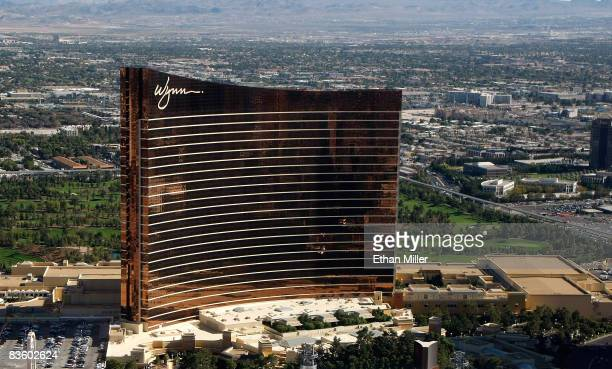 An aerial view of the Wynn Las Vegas on November 6, 2008 in Las Vegas, Nevada.
