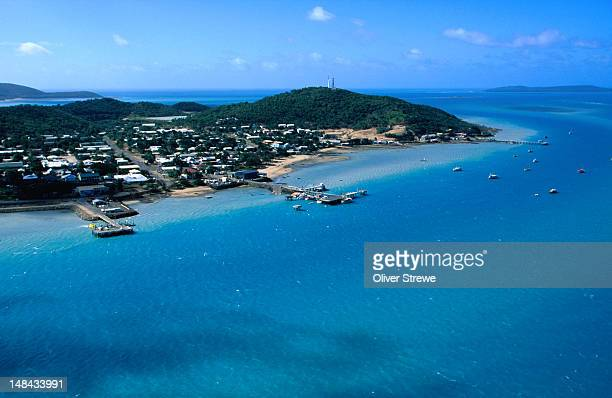 An aerial view of Thursday Island, 'capital' of the Torres Strait Islands.