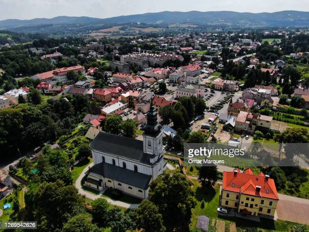An aerial view of Tuchow old town, who lost the twin town partnership with the French town Saint-Jean-de-Braye and was sanctioned by European...