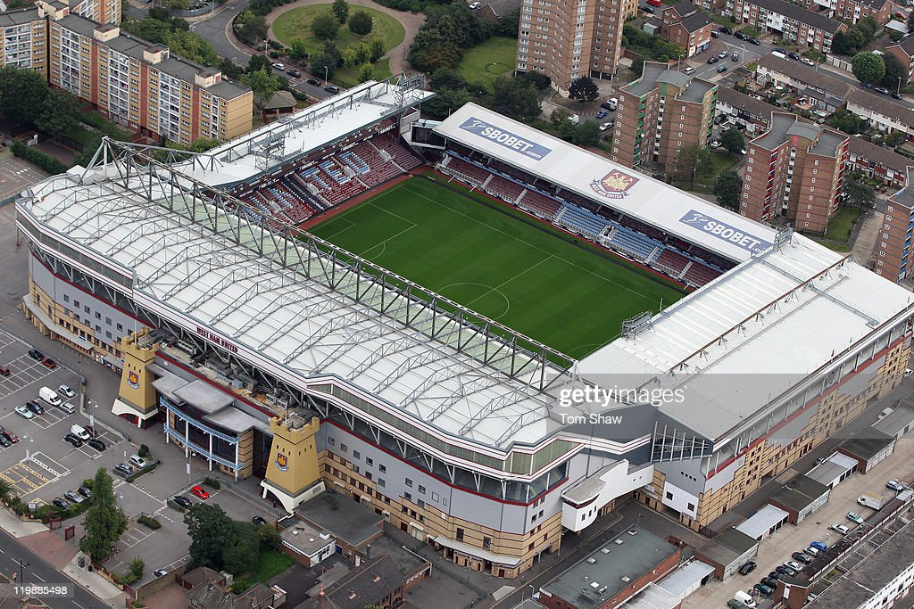 Aerial Views Of London Football Stadiums : News Photo