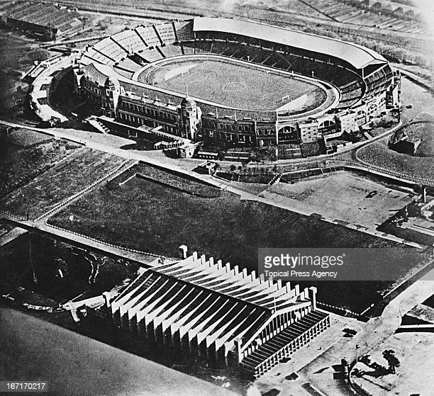 An aerial view of Wembley Stadium and the Empire Pool 27th April 1939