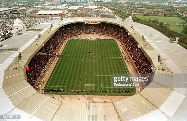 An aerial view of Wembley Stadium in London during the FA Cup Final between Manchester United and Liverpool 11th May 1996