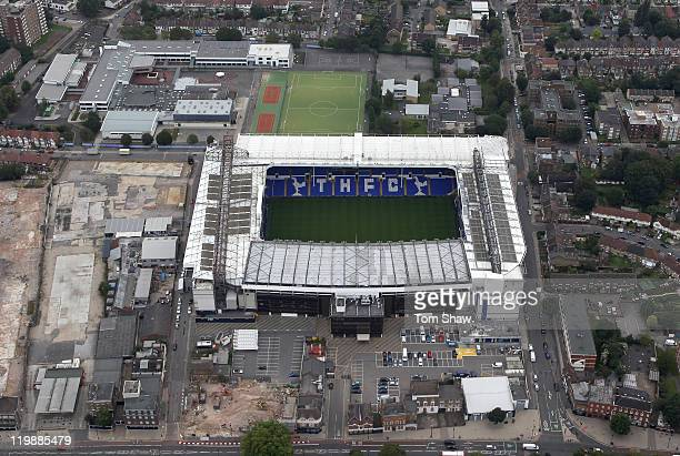 An aerial view of White Hart Lane home of Tottenham Hotspur Football Club on July 26 2011 in London England