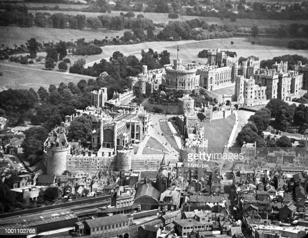 An aerial view of Windsor Castle, Berkshire, 16th July 1956.