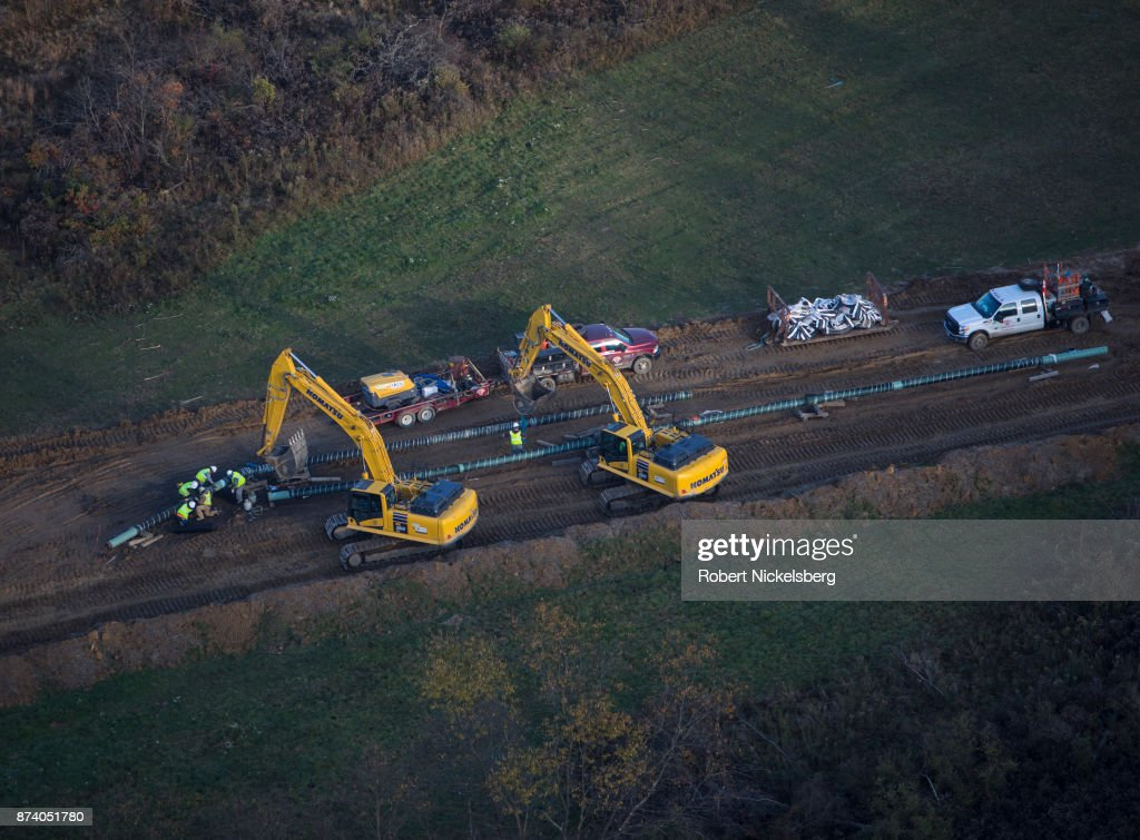 Natural Gas Pipeline In Smith Township, Pennsylvania : News Photo