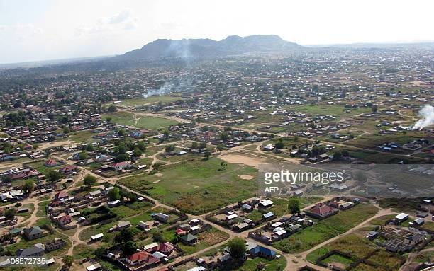 An aerial view shows Juba the capital of south Sudan on November 5 where UN aid chief Valerie Amos warned that the referendum on independence for...
