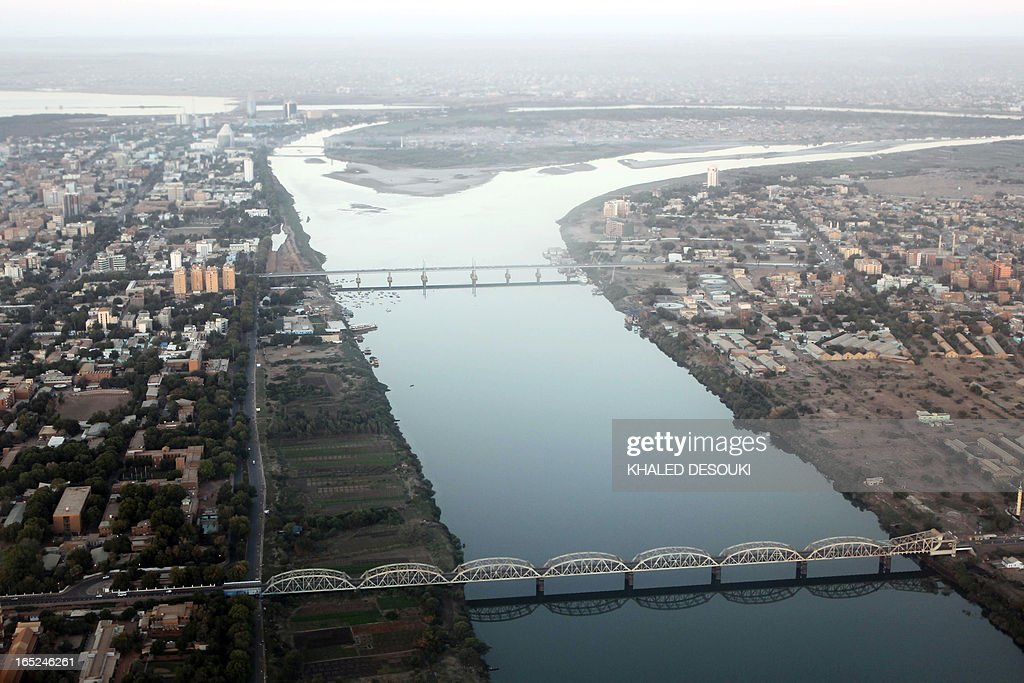 An aerial view shows the Nile river cutting through the Sudanese capital Khartoum on January 13, 2011. South Sudan was set to wrap up a week-long independence vote on January 15 confident one of the world's poorest regions is now securely on the path to becoming its newest nation state.