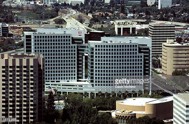 An aerial view shows the Silicon Valley location of Adobe in San Jose California April 21 2000