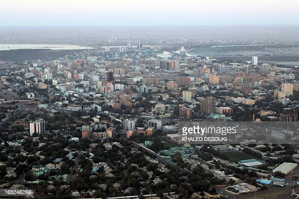 An aerial view shows the Sudanese capital Khartoum on January 13, 2011. South Sudan was set to wrap up a week-long independence vote on January 15...