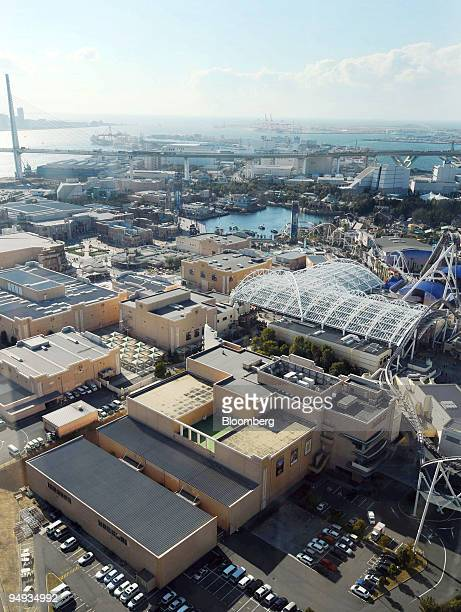 An aerial view shows the Universal Studios Japan theme park in Osaka Japan on Wednesday Jan 14 2009 Goldman Sachs Group Inc fund plans to make a...