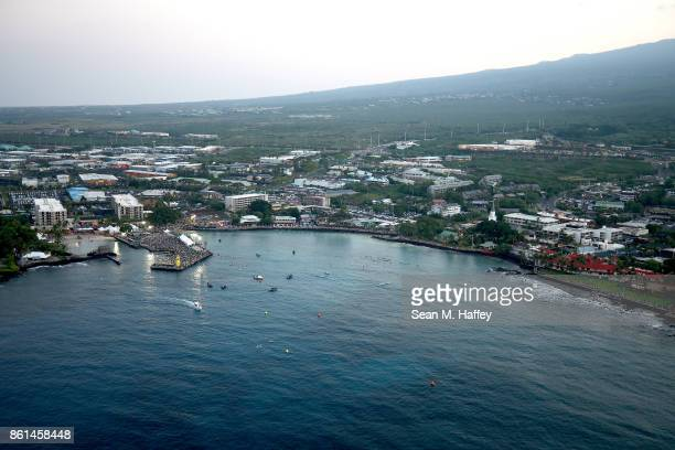 An aeriel view during the IRONMAN World Championship on October 14 2017 in Kailua Kona Hawaii