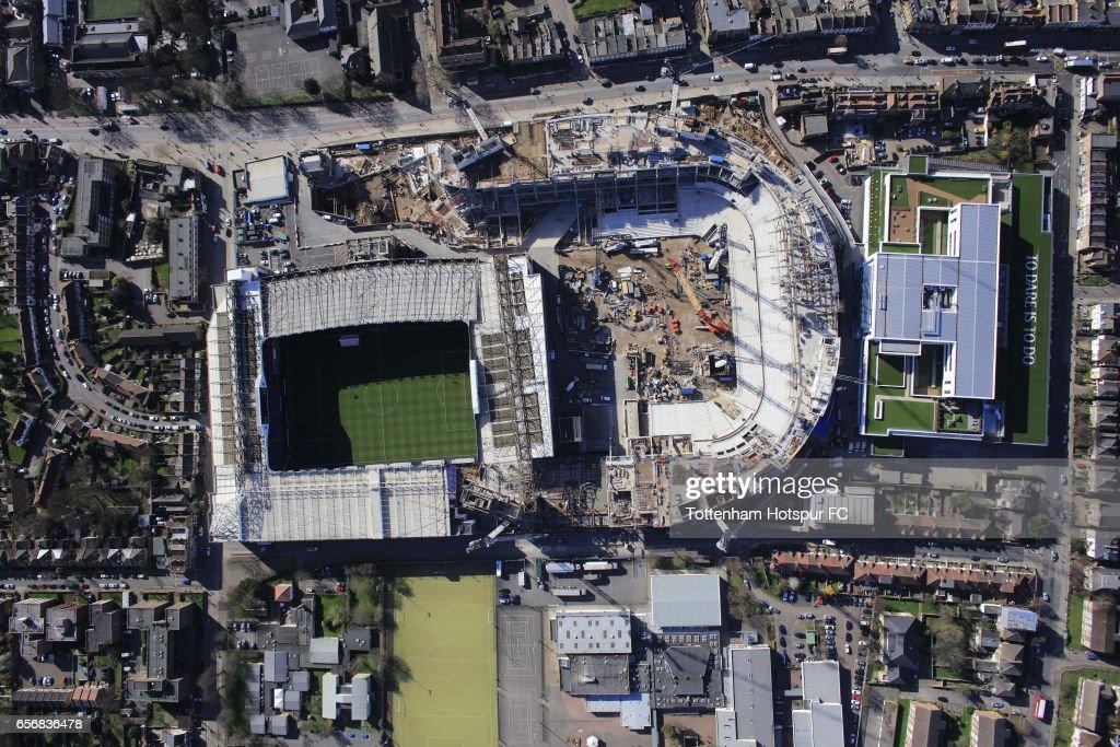 Aerial Views of Tottenham Hotspur's New Stadium Site : News Photo