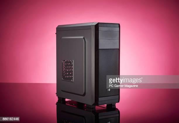 An AeroCool 300 gaming PC case taken on April 7 2017