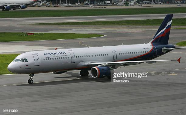 An Aeroflot jet taxis on the runway after landing at London's Heathrow International Airport Thursday May 18 2006