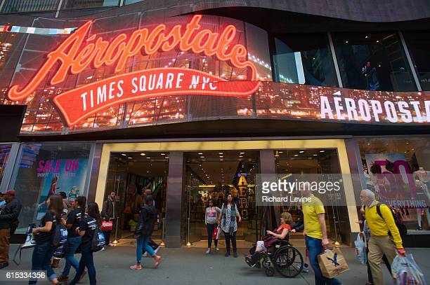 An Aeropostale store in Times Square in New York on Friday May 23 2014 Aeropostale reported that it will explore a sale of the company or a major...